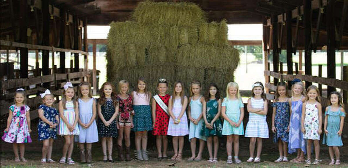 Sixteen girls are entered this year in the Calhoun County Little Miss pageant. The Calhoun County Fair runs Thursday through Sept. 12, with the Little Miss and Mister pageants scheduled for 5 p.m. Sept. 11.
