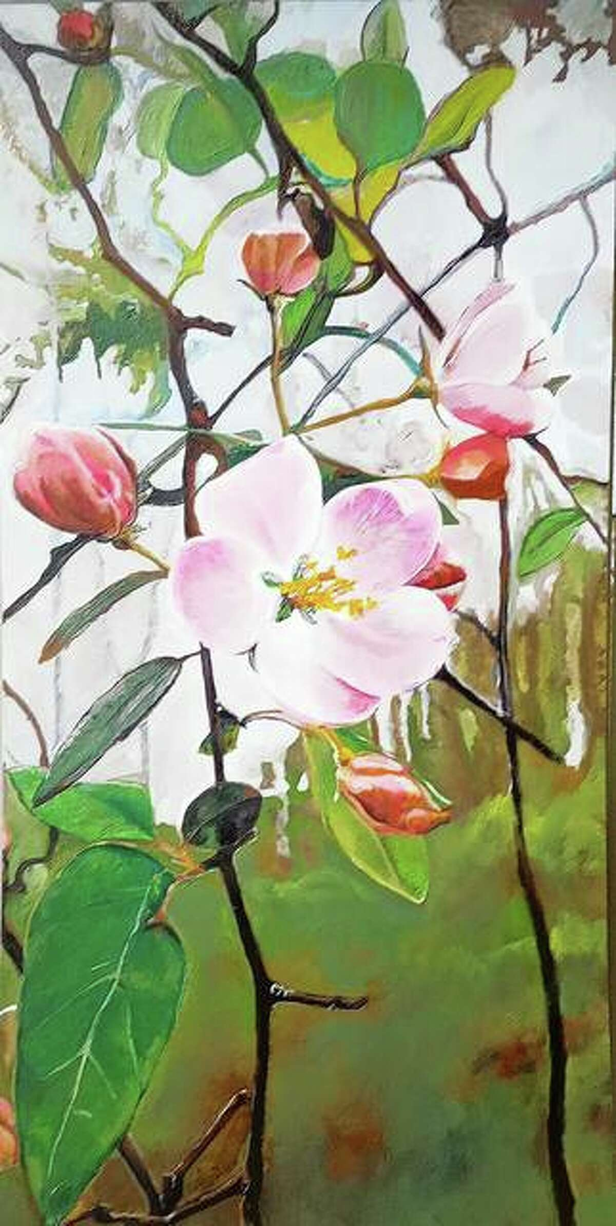 """Artist Amy Denny's """"Iowa Crab Apple"""" will be displayed starting Sept. 11 at the David Strawn Art Gallery as part of the Art Association of Jacksonville's 2021-22 gallery season. Paintings by Kevin Veara also will be featured in the joint show."""