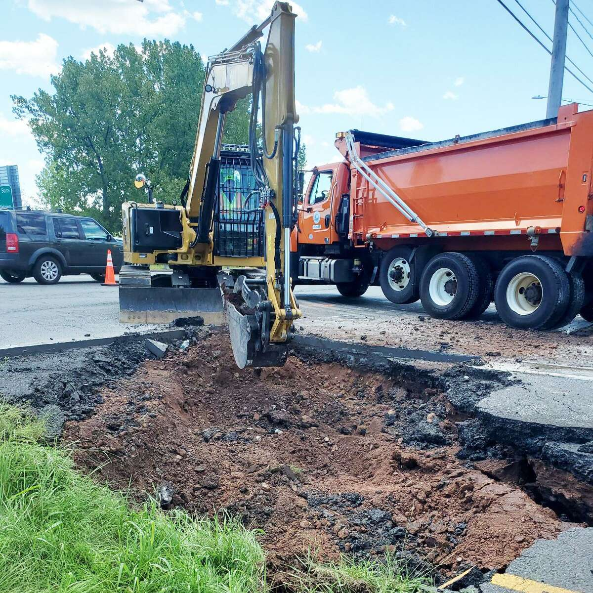 State Department of Transportation crews have finished the initial work on the washout that damaged part of the Route 9's Exit 19 southbound ramp in Cromwell following Ida.