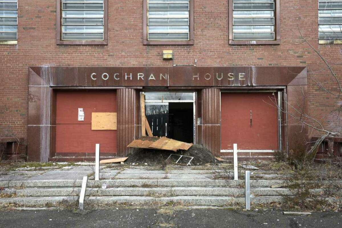 Cochran House, on Newtown's Fairfield Hills Campus, one of four former hospital buildings slated to be demolished. Photo taken Wednesday, January 6, 2021, in Newtown, Conn.