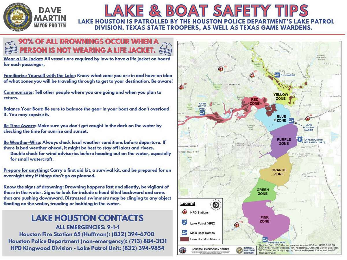 A plan to save lives on Lake Houston, partly devised by Pro-Tem Mayor Dave Martin with fire and police personnel, has been put into action with the hope of saving lives on the vast expanse of water.