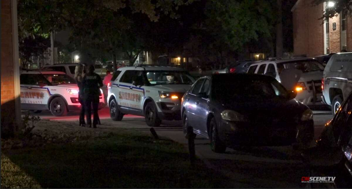 A deputy shot a man who officials say assaulted and injured a person in a family violence incident Saturday morning in north Houston, according to the Harris County Sheriff's Office.