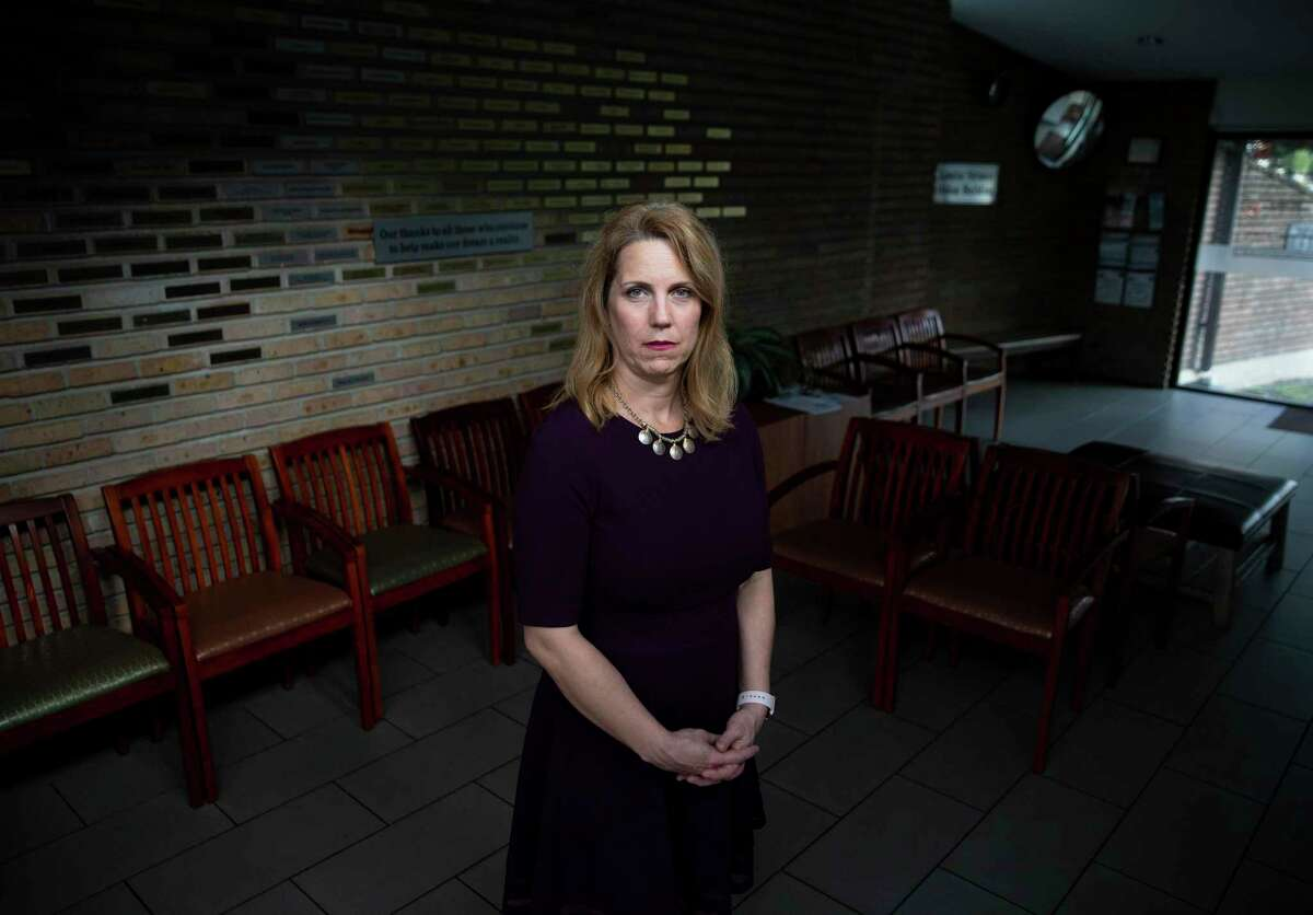 Emilee D. Whitehurst, CEO of Houston Area Women's Center, Thursday, Sept. 2, 2021, at Houston Area Women's Center in Houston. HAWC is a rape crisis center that provides a 24-hour sexual assault hotline and crisis counseling.