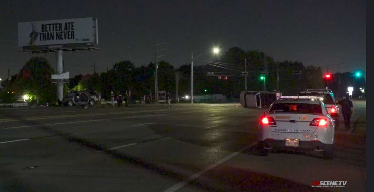 A crash happened in the area of state highway 249 and Breen Drive, according to the Harris County Sheriff's Office.