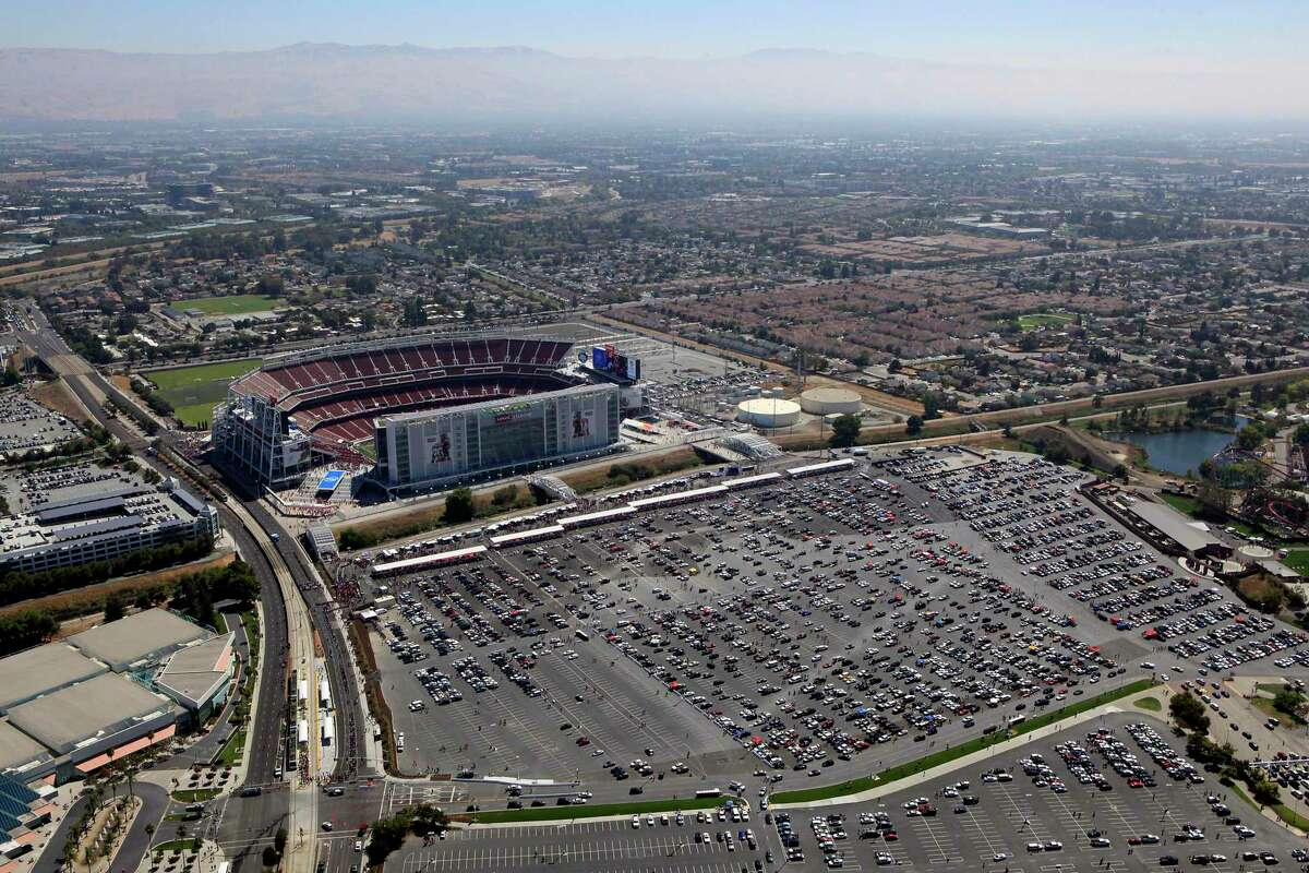 Levi's Stadium hosts a preseason football game between the San Francisco 49ers and the Denver Broncos in Santa Clara on Aug. 17, 2014.