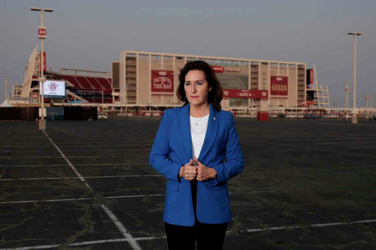 Santa Clara Mayor Lisa Gillmor was a real estate broker and 49ers volunteer when she helped urge voters to pass the stadium measure on the June 2010 ballot.