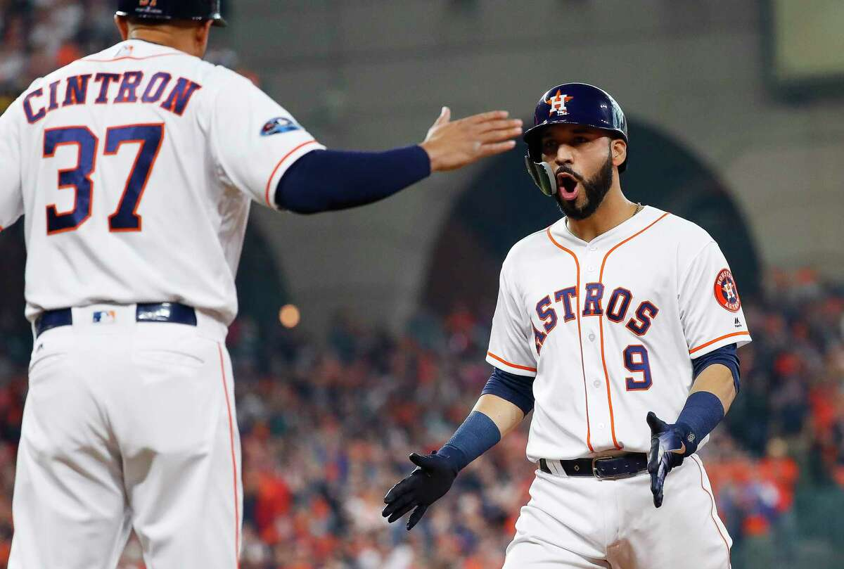 The Astros brought Marwin González back on a minor league deal last month to provide more bench options in September.