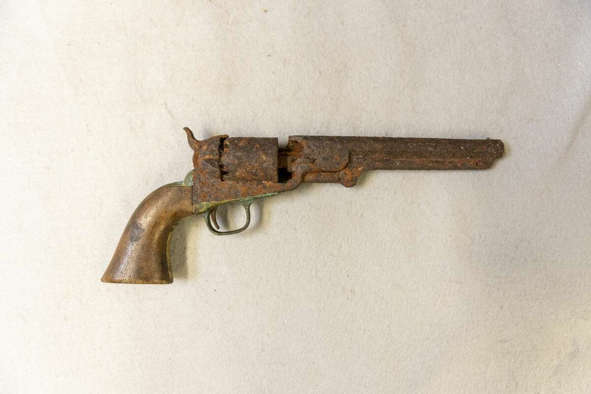 Mitchell Sabattis's pistol was recently acquired by the Adirondack Experience museum on Blue Mountain Lake. (Photo by Mike Lynch/Adirondack Explorer)