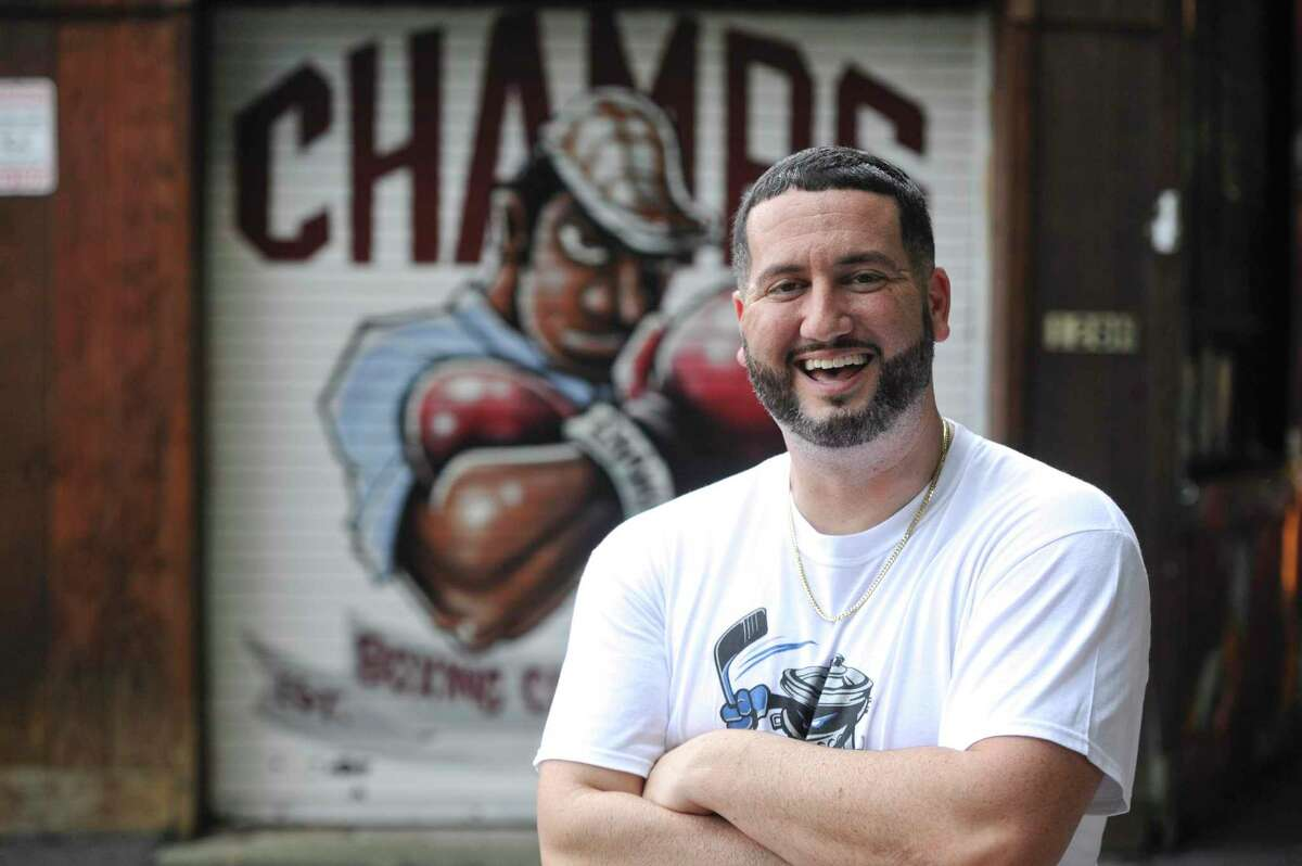 A.J. Galante, owner of Champs Boxing Club, in Danbury, Conn. Netflix is releasing a documentary on the Trashers, a minor league hockey expansion team in the United Hockey League (UHL). the team was bought by James Galante who made A. J. Galante, 17-years-old at the time, president and general manager. Thursday, August 26, 2021.