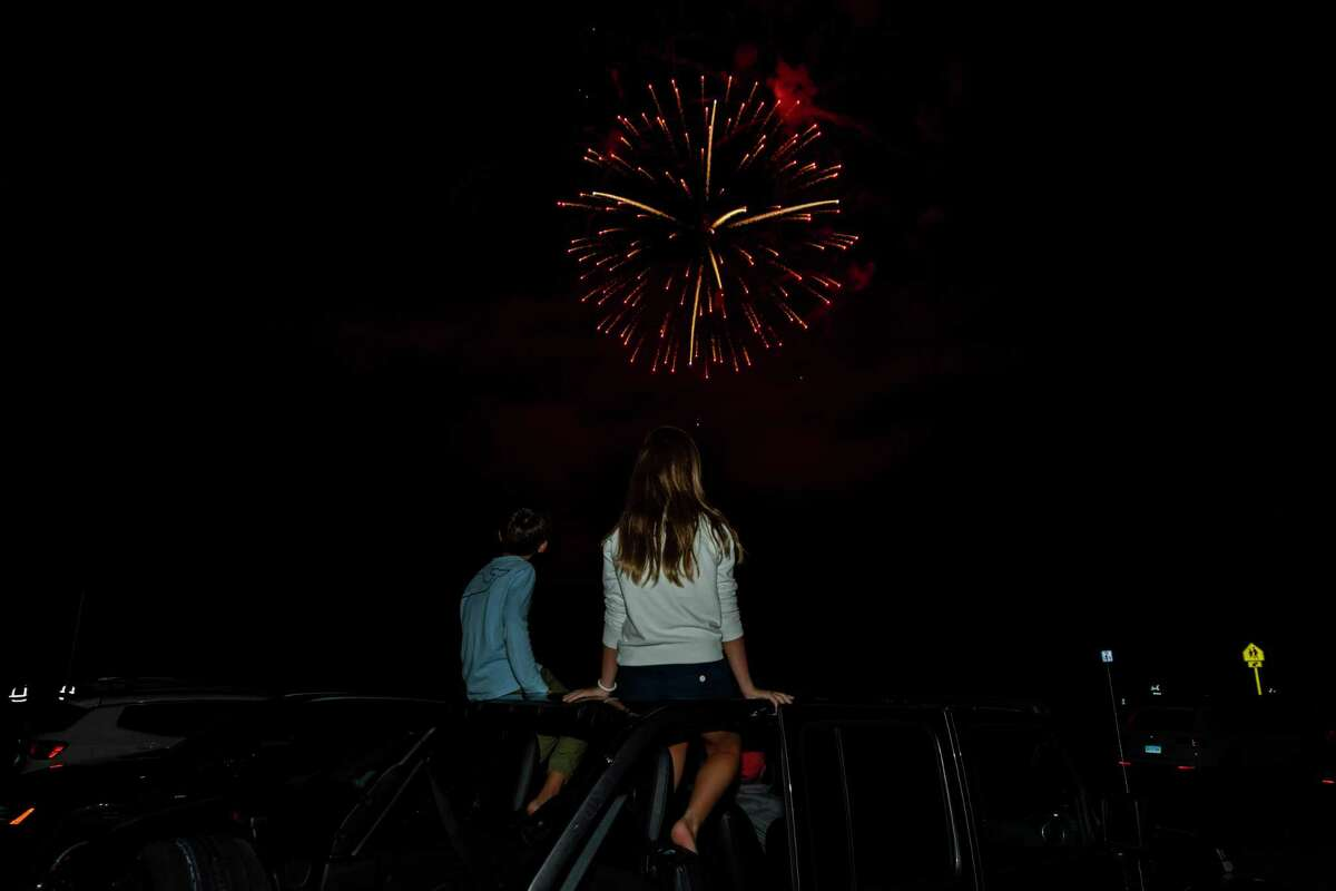 Hundreds attended the Wilton Labor Day celebration Saturday that culminated with a fireworks display at the high school sports complex.