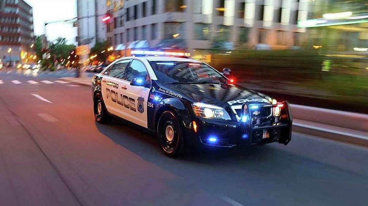 A file photo of a Hartford, Conn., police cruiser.