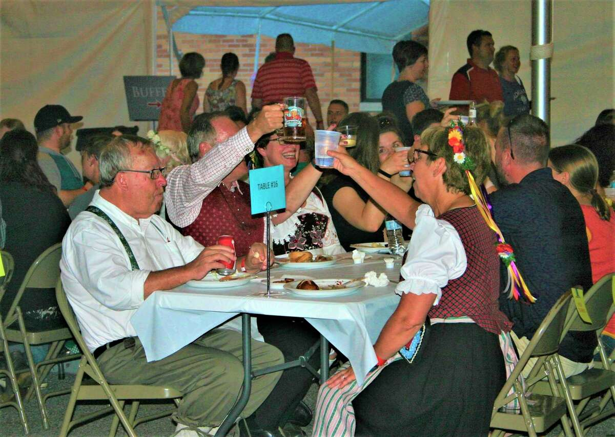 Attendees celebrate German heritage at the 2019 Germanfest celebration at St. Peter's Lutheran Church in Big Rapids. The event has been canceled for the second year in a row. (Pioneer file photo)