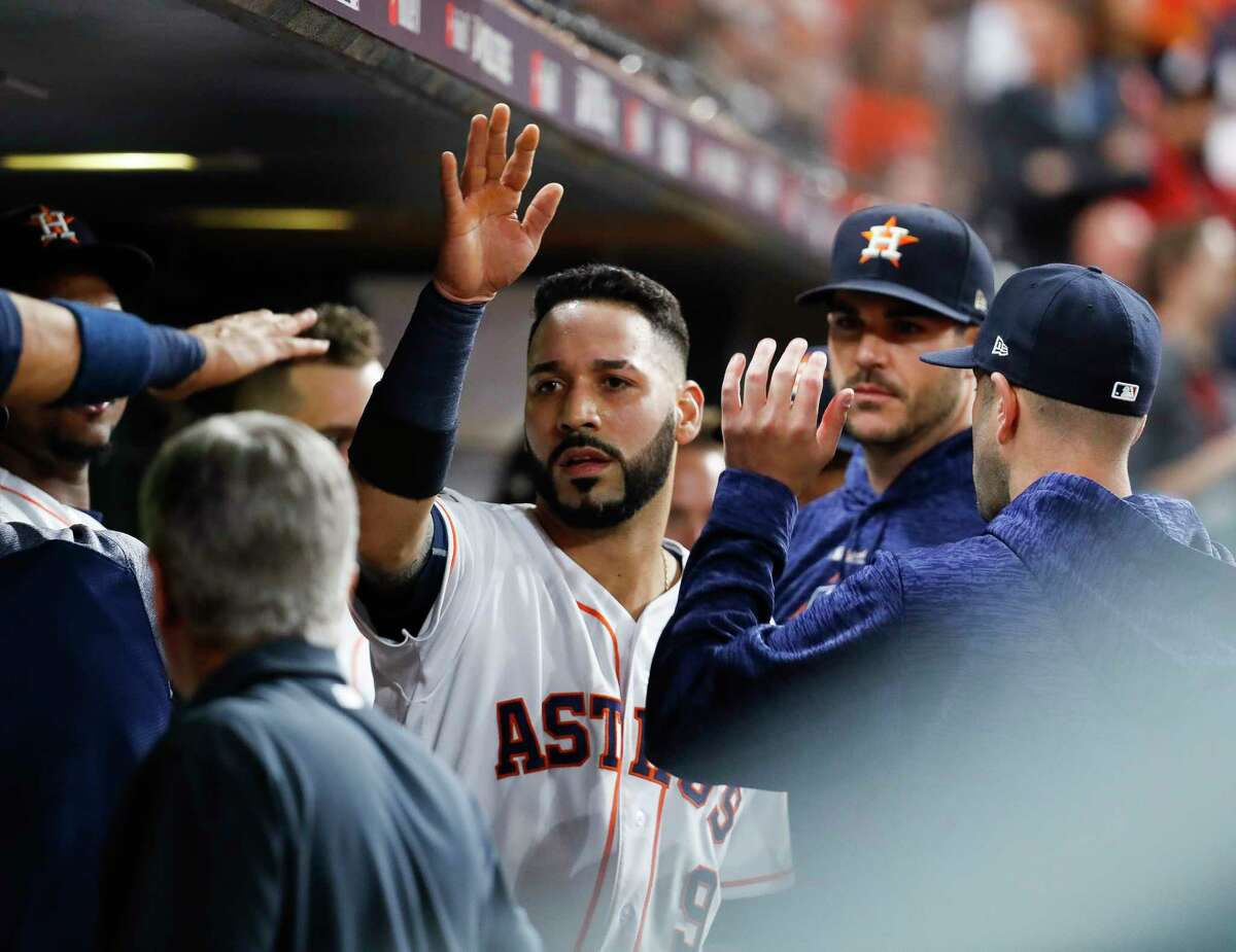The Astros' Marwin González is back on the major league roster.