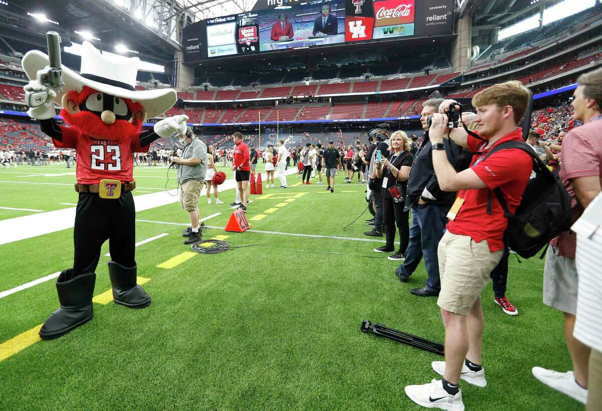 Texas Tech and its mascot were on the sidelines before the start of the Texas Kickoff against the University of Houston in what might soon be a Big 12 matchup.