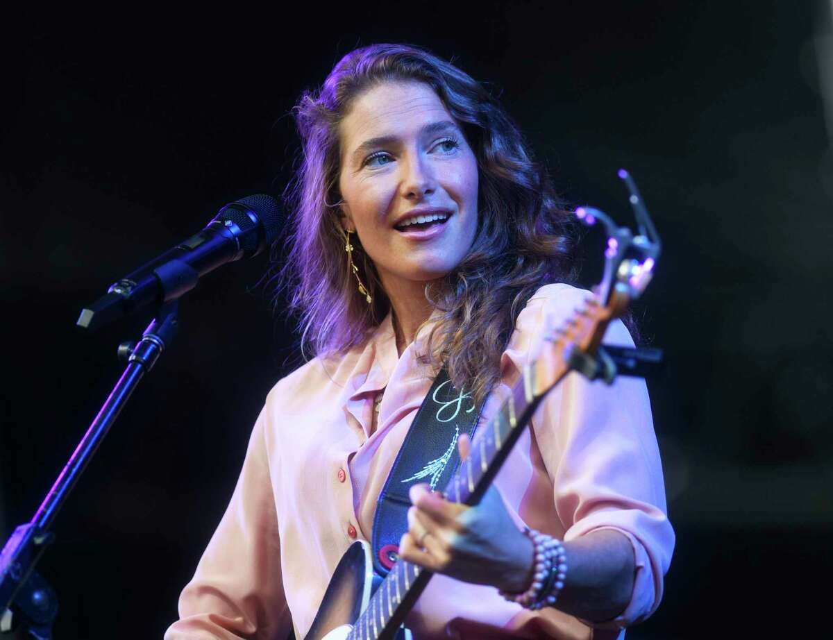 Greenwich country singer-songwriter Caroline Jones performs at the Greenwich Town Party at Roger Sherman Baldwin Park in Greenwich, Conn. Sunday, Sept. 5, 2021. This year's lineup featured headliners Zach Brown Band and the Eagles.