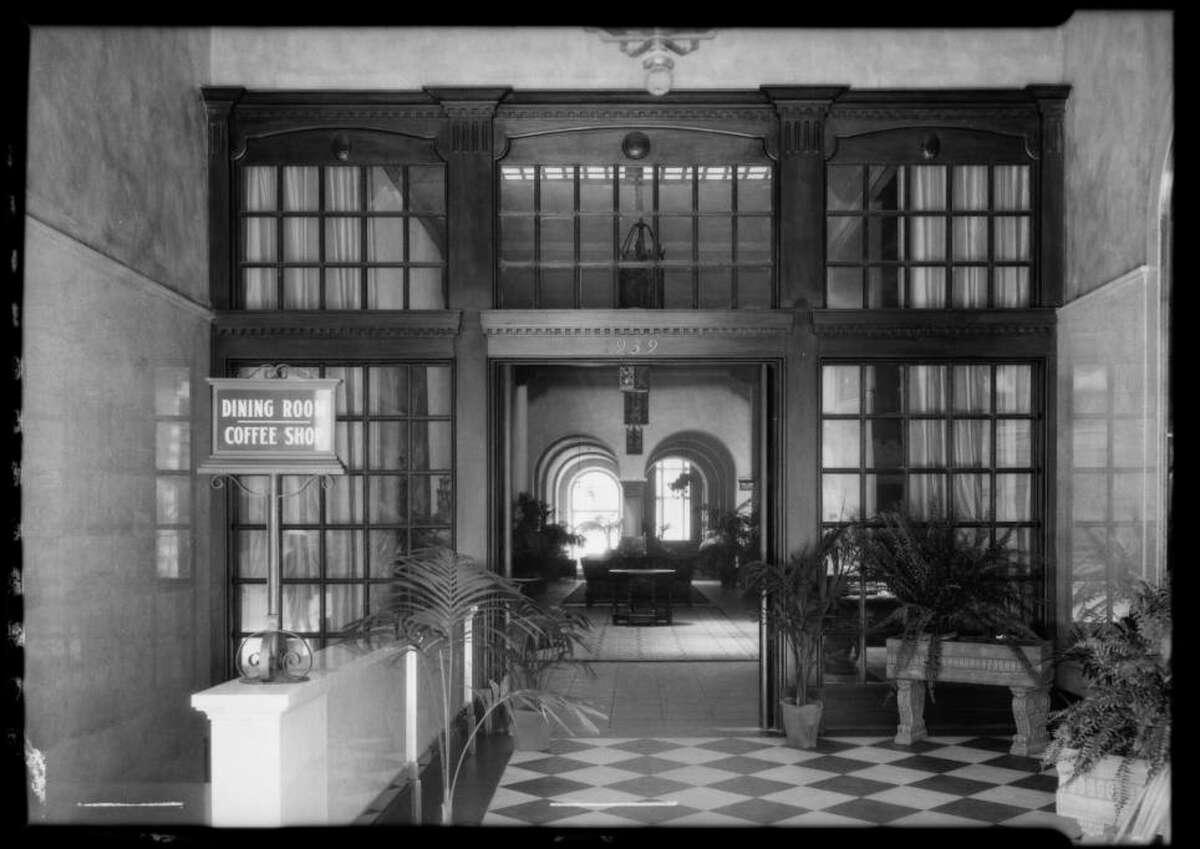The downtown LA's Hotel Figueroa YWCA's coffee shop was a popular lunch spot for professional women.