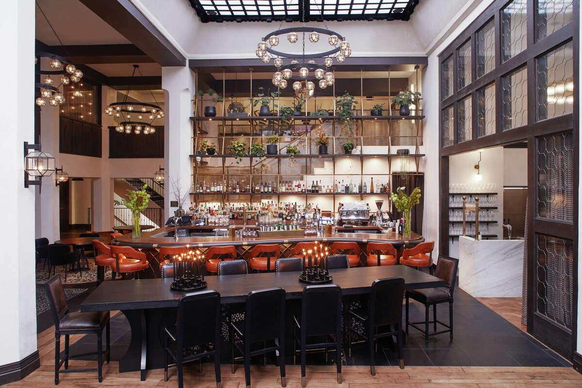 The Hotel Figueroa's lobby bar.