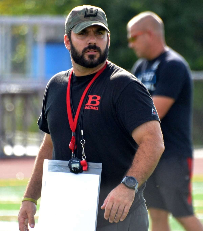 Branford coach John Limone during practice on Wednesday, Sept. 19, 2018.