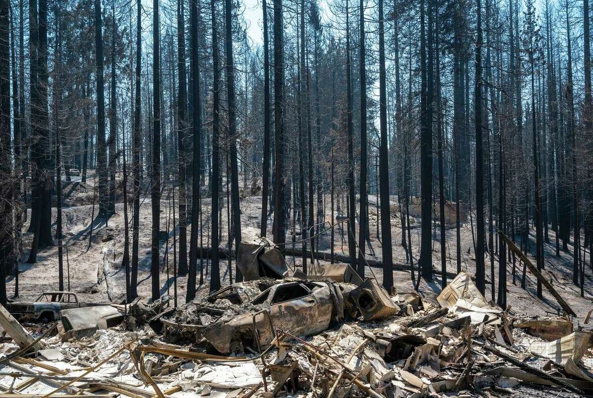 Many homes were lost in Grizzly Flats, near where the Caldor Fire started.