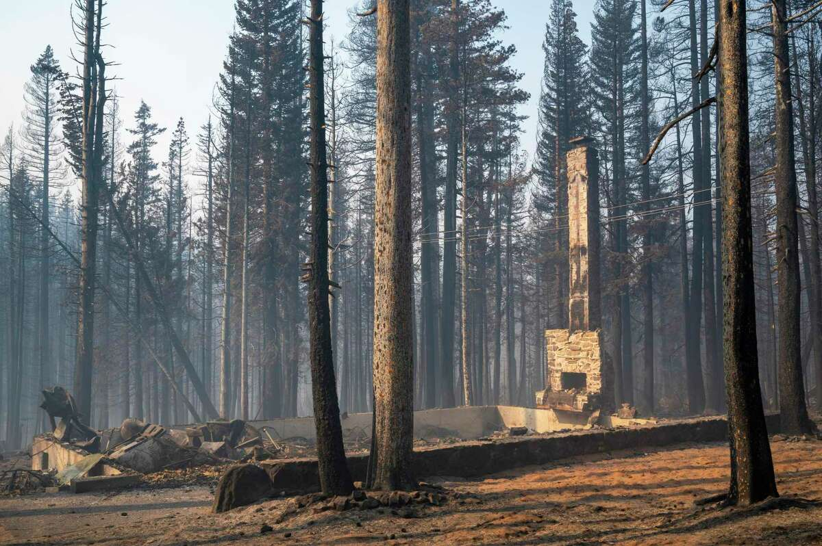The Caldor Fire destroyed some homes in Twin Bridges in the Lake Tahoe Area. Warm, windy weather over Labor Day could cause a resurgence of the fire.