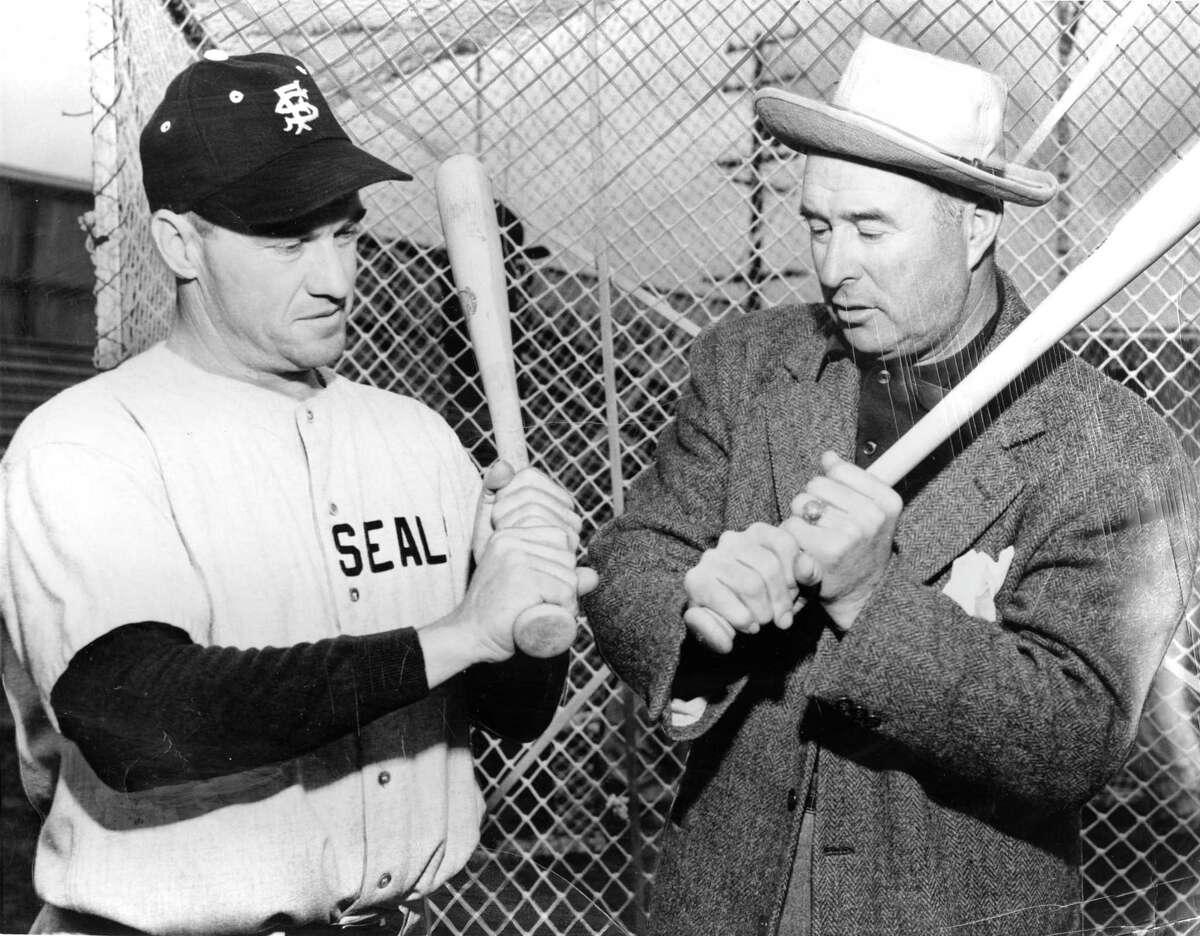 Arky Vaughan of the San Francisco Seals & Lefty O'Doul San Francisco California Photo ran 03/04/1949