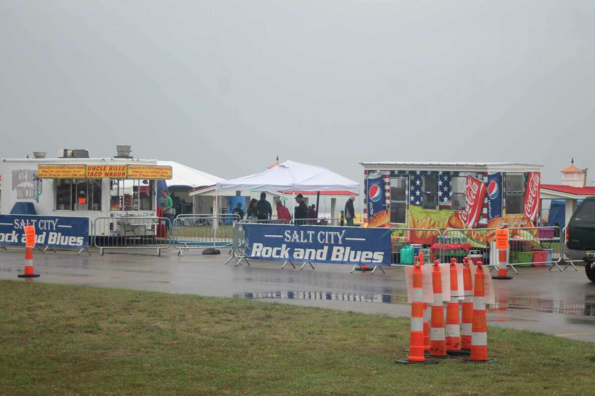 Rains moved in on Saturday but did little to dampen the mood during Salt City Rock and Blues' LaborFest held at the Lions Pavilion at First Street Beach in Manistee. (Kyle Kotecki/News Advocate)