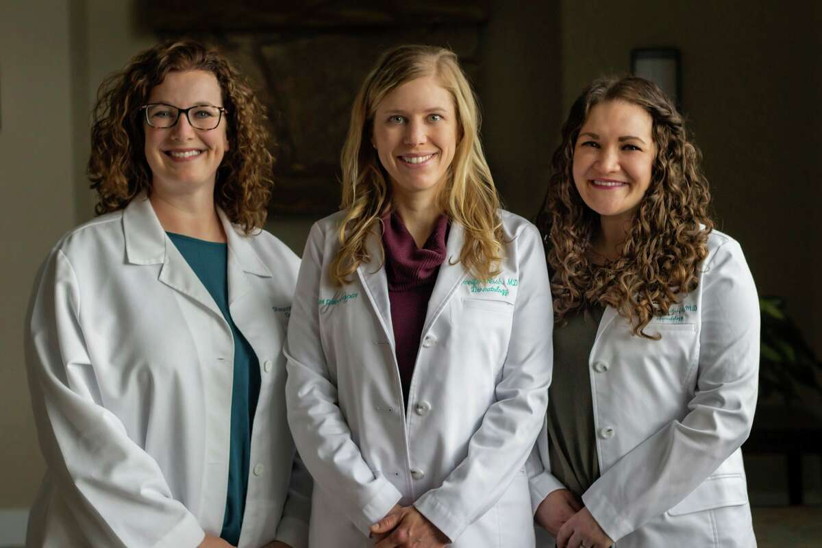 From left, Shannon Ahrens, Dr. Jennifer Nash and Dr. Chelsea Houthoofd. (Photo provided/Nash Dermatology)