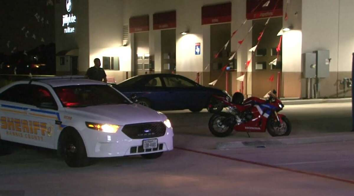 A 19-year-old died after riding his motorcycle up a ramp in a Katy parking lot, losing control when going airborne and falling off the vehicle, according to authorities.