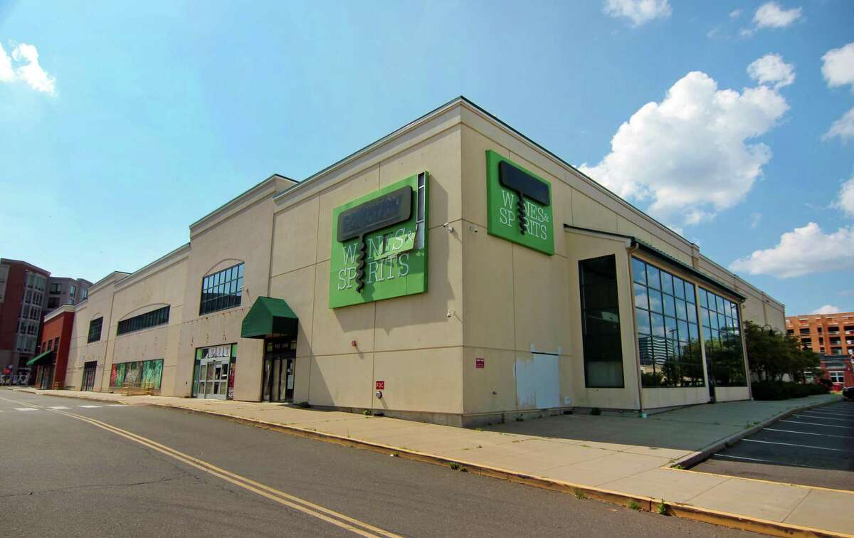 The building that formerly housed a Fairway Market remains vacant at 699 Canal St., in Stamford, Conn.