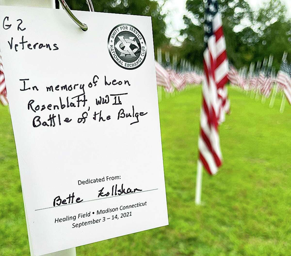 The Healing Field, is dedicated to 9/11 victims and survivors, active military, veterans, first responders and COVID heroes.