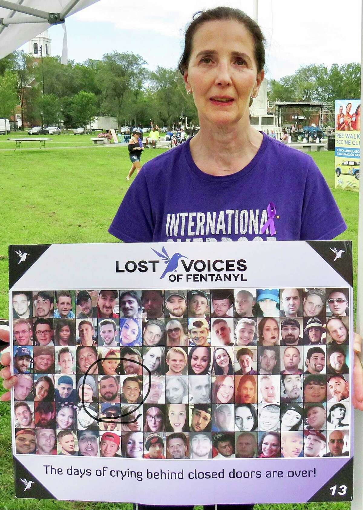 Branford's Mary Romano, at International Overdose Awareness Day