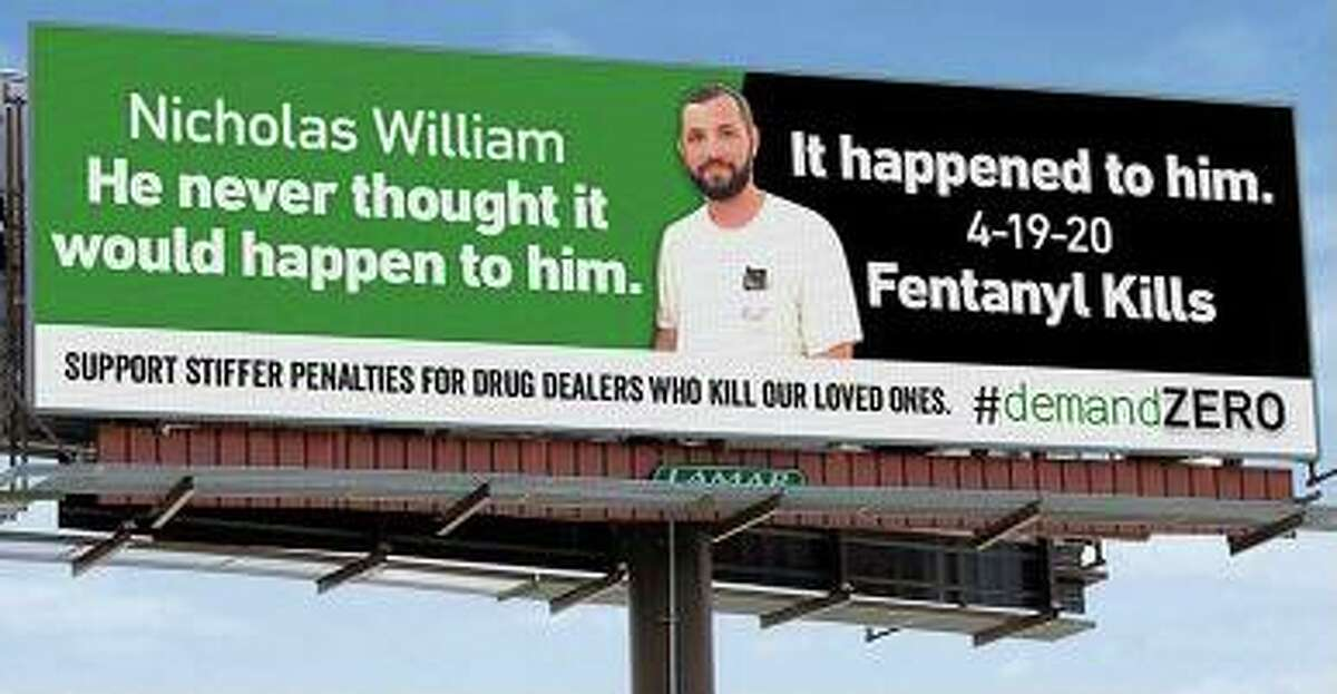 Nicholas on billboard at Exit 51 on Interstate-95 North.