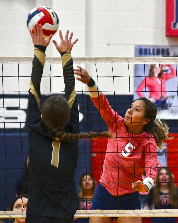 Senior Daniela Guzman has stepped into a bigger role for the Plainview volleyball team.