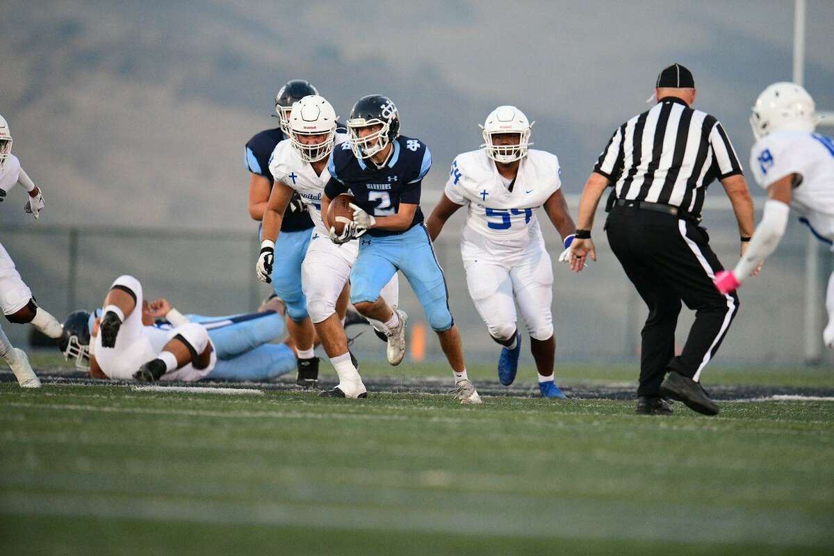 Andrew Beldi is a running back for Valley Christian (2-0), The Chronicle's seventh-ranked Metro team. Valley Christian playsat No. 3 Pittsburg on Friday.