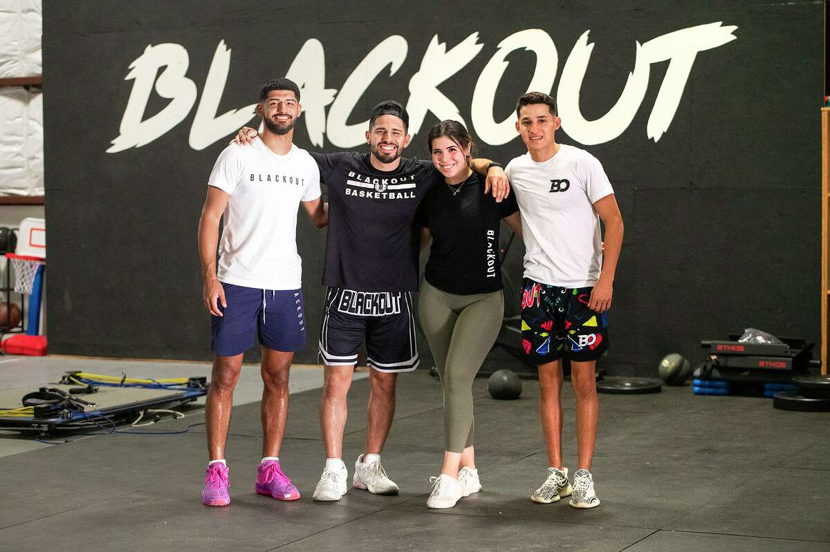 Mathew Duron, left, and Andy Pompa, right, have helped C.J. Martinez train players with Blackout Training.