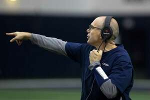 Defensive coordinator Lou Spanos comes to UConn with both collegiate and NFL experience, having most recently served on the staff at Alabama.