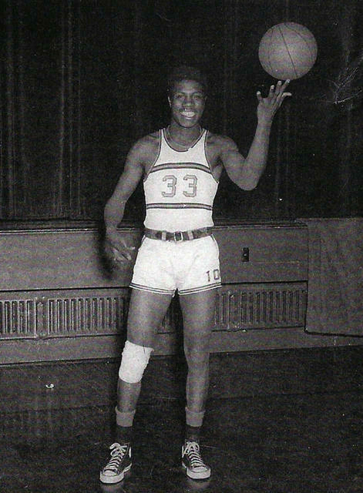 Herman Shaw as a basketball player at Edwardsville High School.
