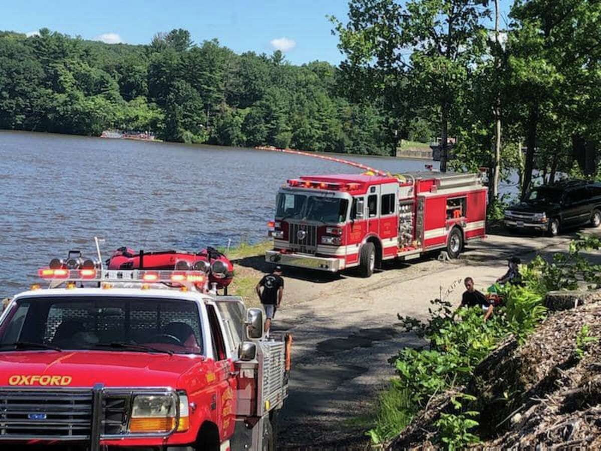 An individual and their capsized vessel were found by responding units in shallow waters in Lake Zoar in Monroe, Conn., on Thursday, Sept. 2, 2021, officials said.