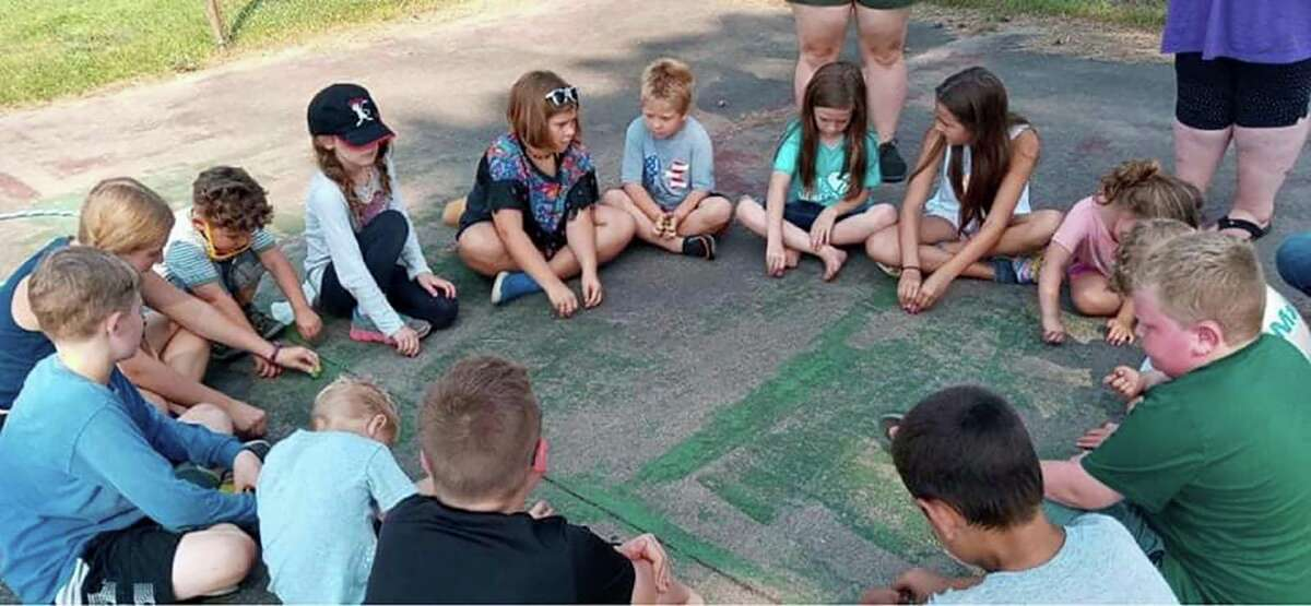 On the last day of the Chase Township Public Library'ssummer reading program, kids got to play games and do activities outside in the park. (Courtesy photo)