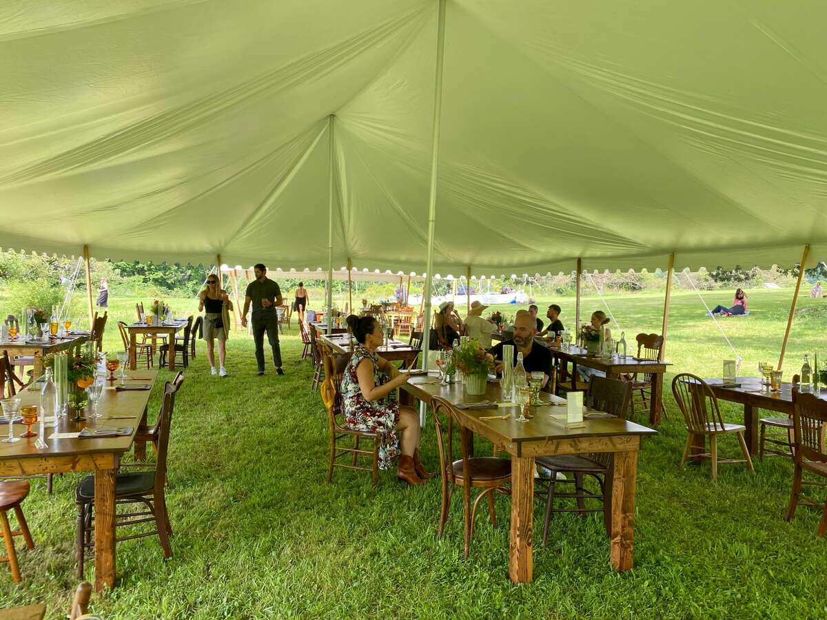 Among the open-air dinners recently sponsored by Terrain & Table, a new venture from the Catskill-based lifestyle brand The Farmhouse Project, was one at Stone Ridge Orchard in Ulster County.
