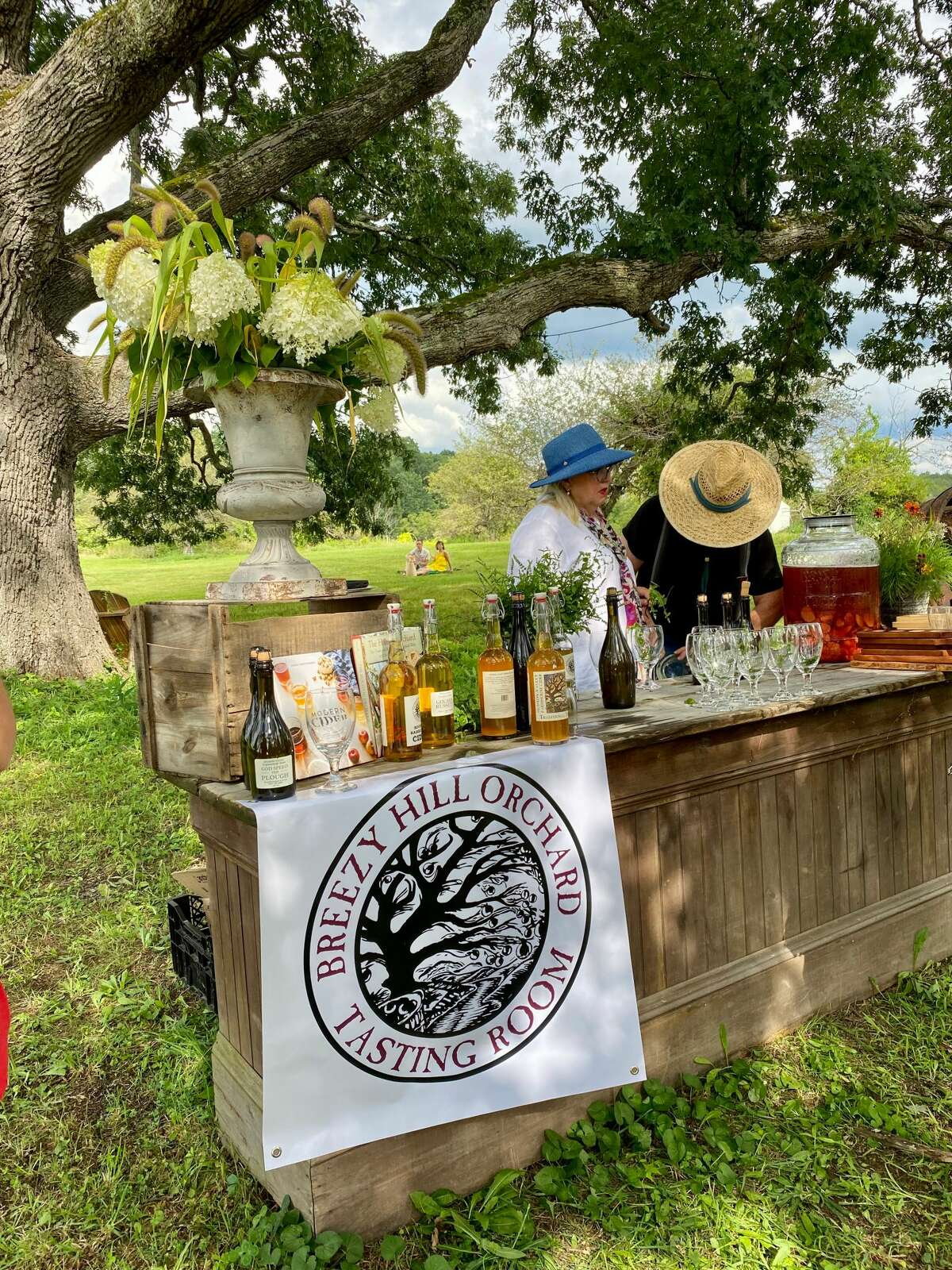 Terrain & Table, a new venture from the Catskill-based lifestyle brand The Farmhouse Project, collaborates with regional beverage producers including Breezy Hill orchard in Dutchess County to host outdoor dinners on farms.