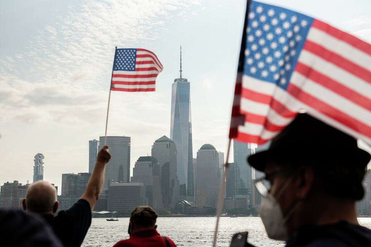 Jersey City holds its annual Reflections 9/11 Memorial Ceremony to commemorate the 19th anniversary of the September 11th attacks, by the waterfront at the foot of Grand Street.