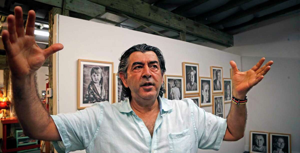 Photographer Ramin Samandari is preparing to open an exhibit of his portraits in his new studio in the Lone Star Arts District.