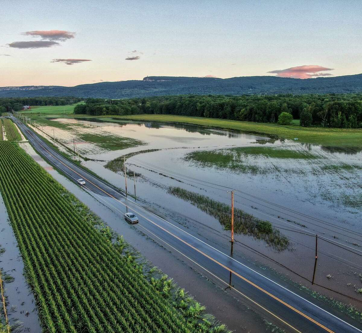 Wallkill View Farm, located on the New Paltz flats that were heavily flooded, pictured above, harvested as much as they could before last week's rain.