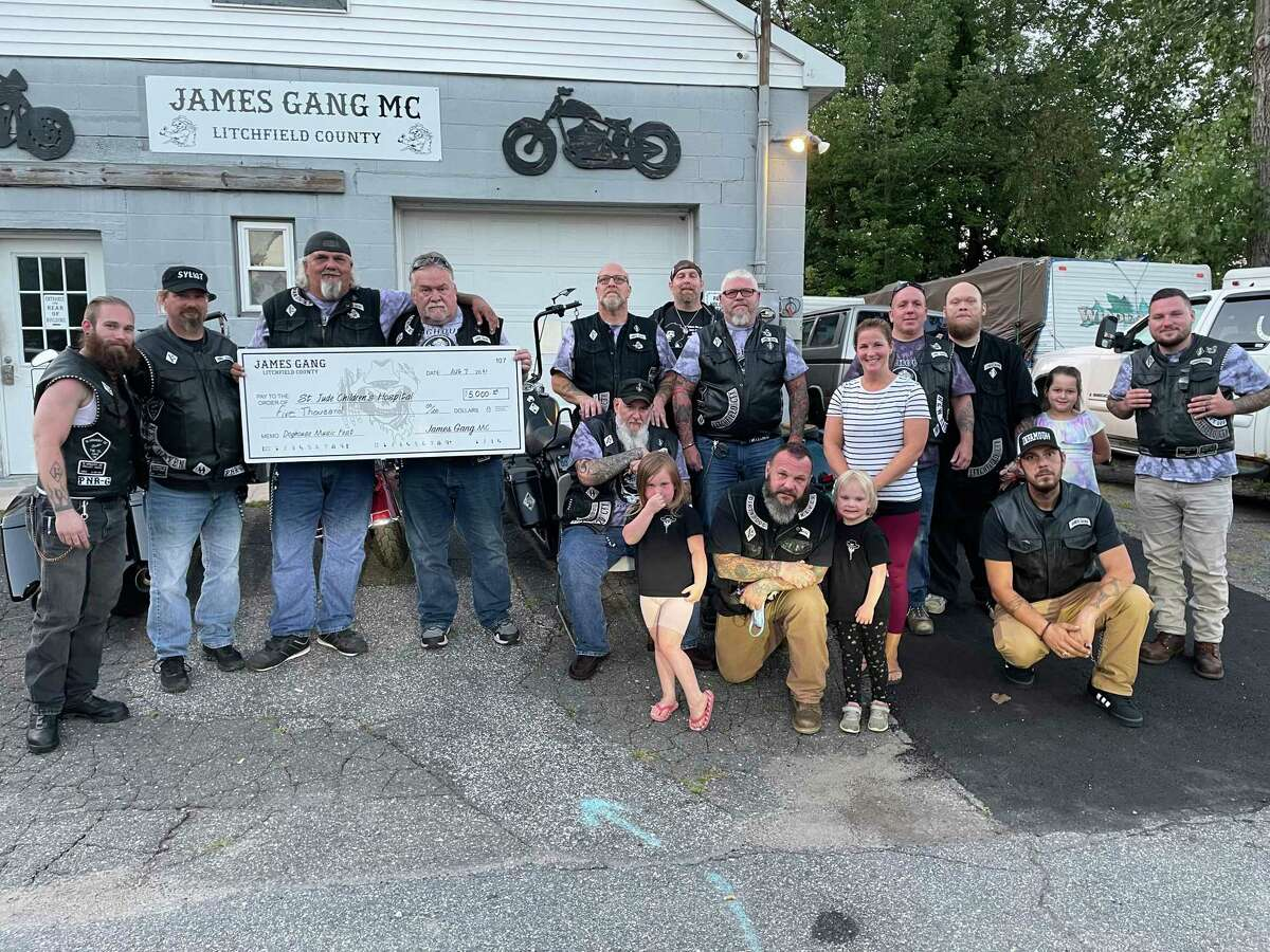 The James Gang Motorcycle Club recently donated $5,000 to St. Jude's Children's Research Hospital's local event, the Tim Driscoll St. Jude Hospital Telethon. The money was raised during the club's annual music festival.
