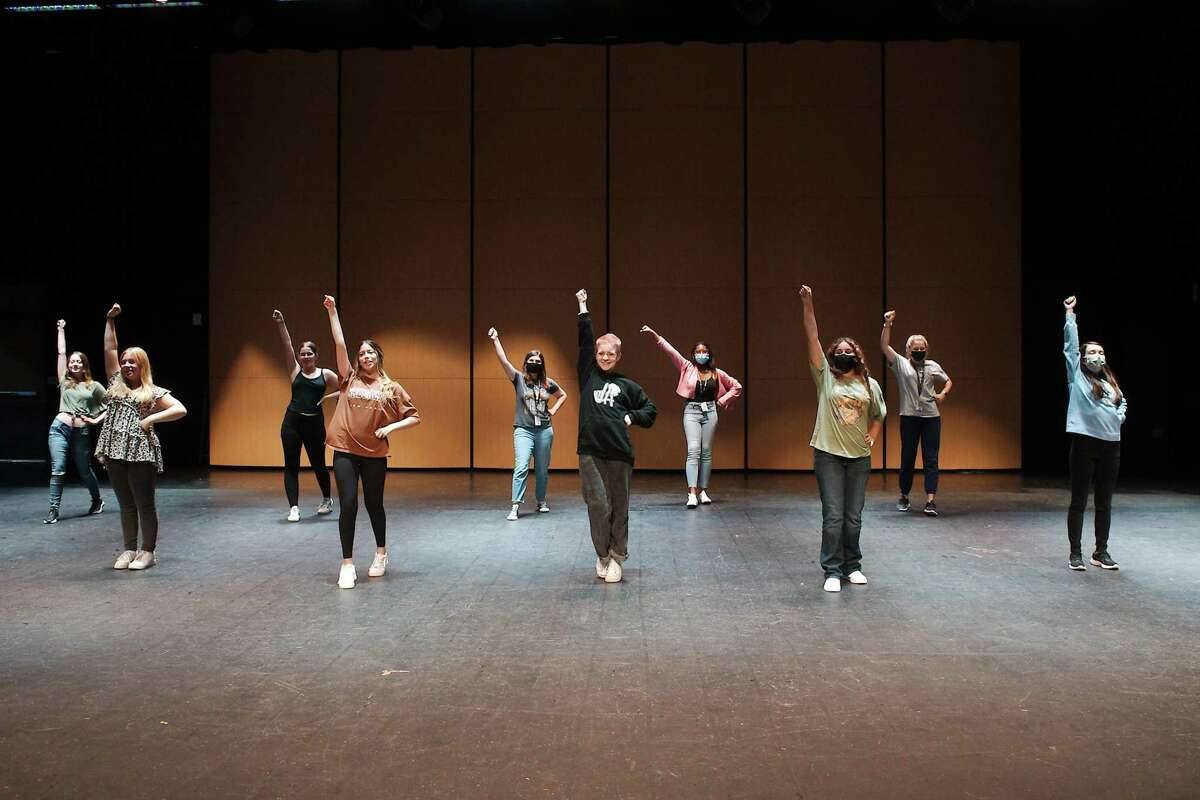 """Students audition in August for cheerleader roles in Pearland High School's production of """"Aliens vs. Cheerleaders,"""" set for Sept. 30 through Oct. 2. The school's theater department season will include """"White Widow & Tales from E. A. Poe"""" on Oct. 28-29 and """"Leader of the Pack: The Ellie Greenwich Musical,"""" scheduled for Jan. 13-15 and 20-22."""