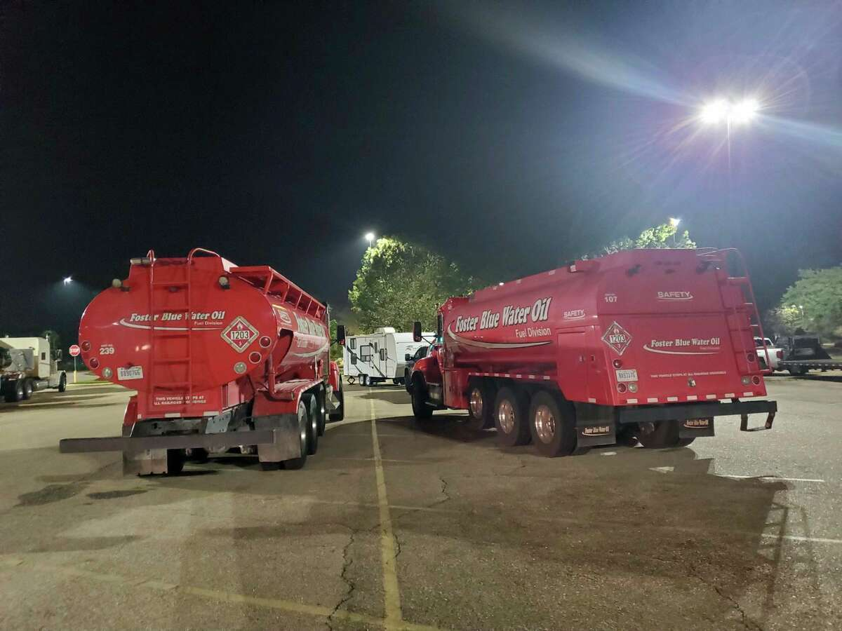 Mike Krawczak of Sanford and Trevor Tope of West Branch delivered thousands of gallons of fuel to southeast Louisiana to assist with recovery from Hurricane Ida. (Photo provided/Mike Krawczak)