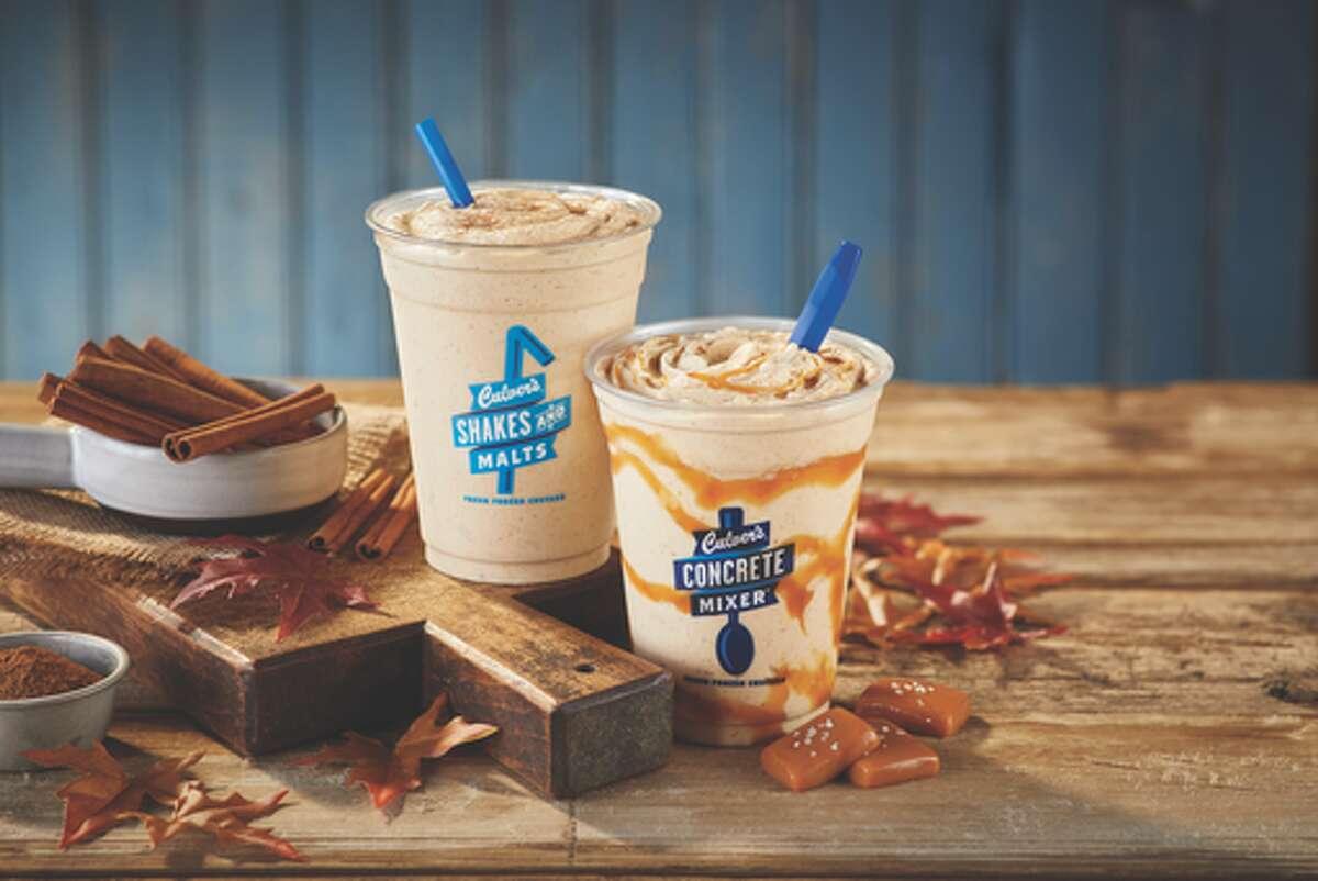 Pumpkin fresh frozen custard returns to Culver's menu this fall.