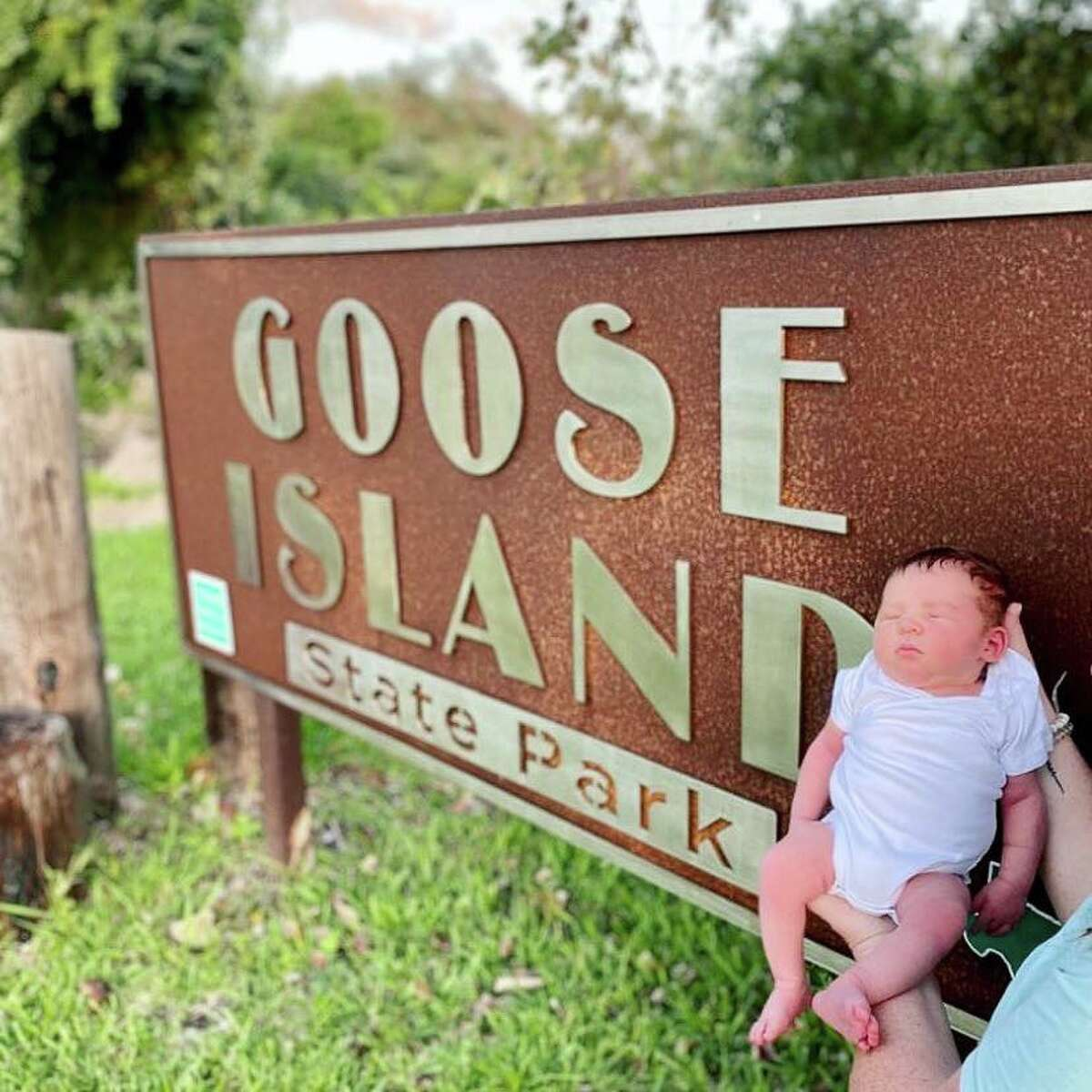 Texas mother gives birth while camping at RV at Goose Island State Park.
