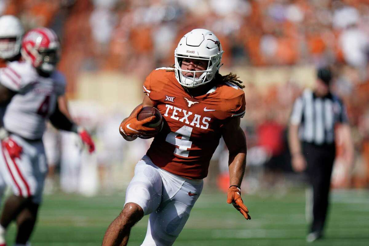 Jordan Whittington amassed seven catches for 113 yards and a touchdown in Texas' season-opening 38-18 win over Louisiana-Lafayette.